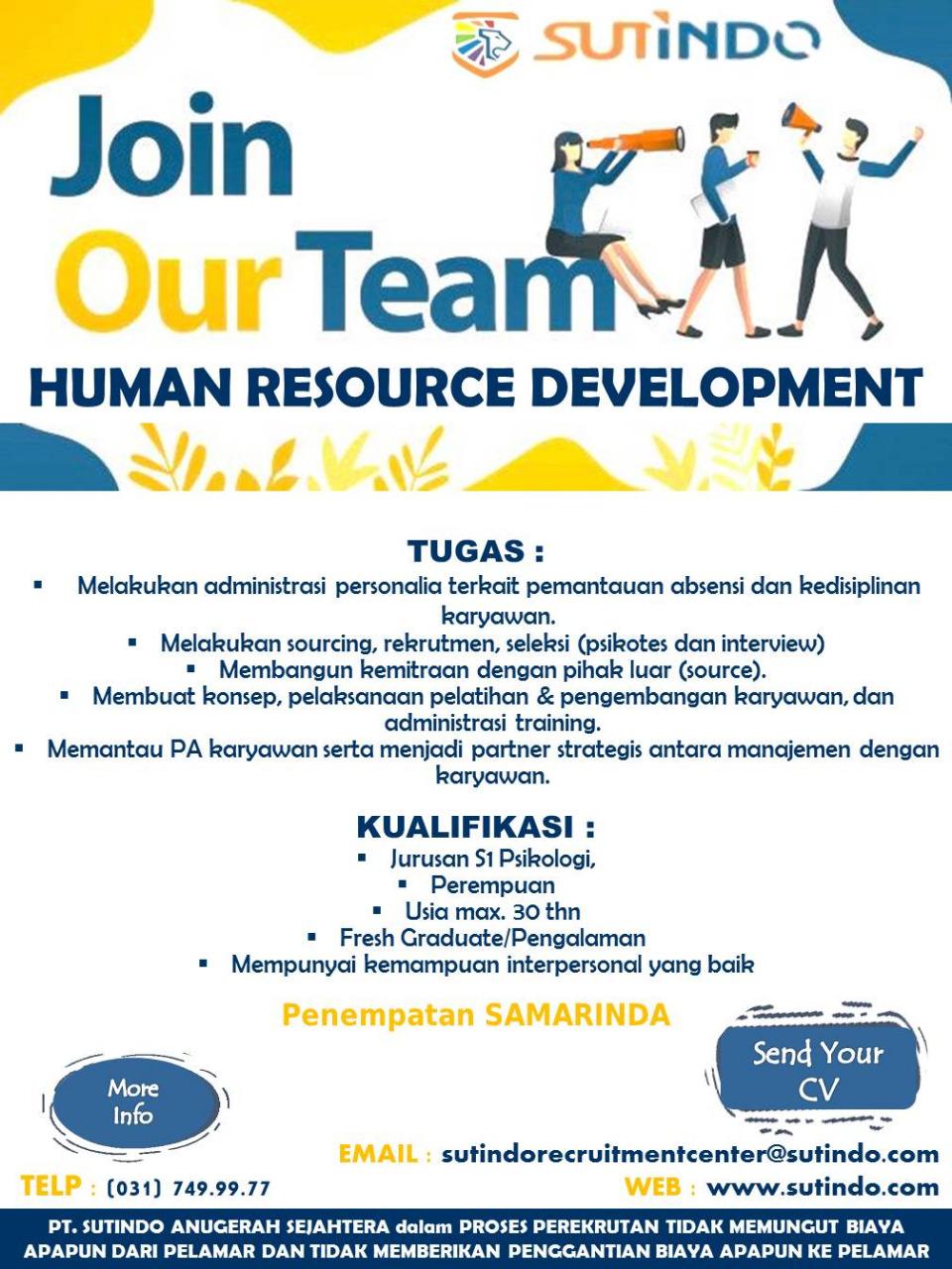 Lowongan Kerja Sutindo Group Lowongan Kerja Kalimantan Timur Terbaru