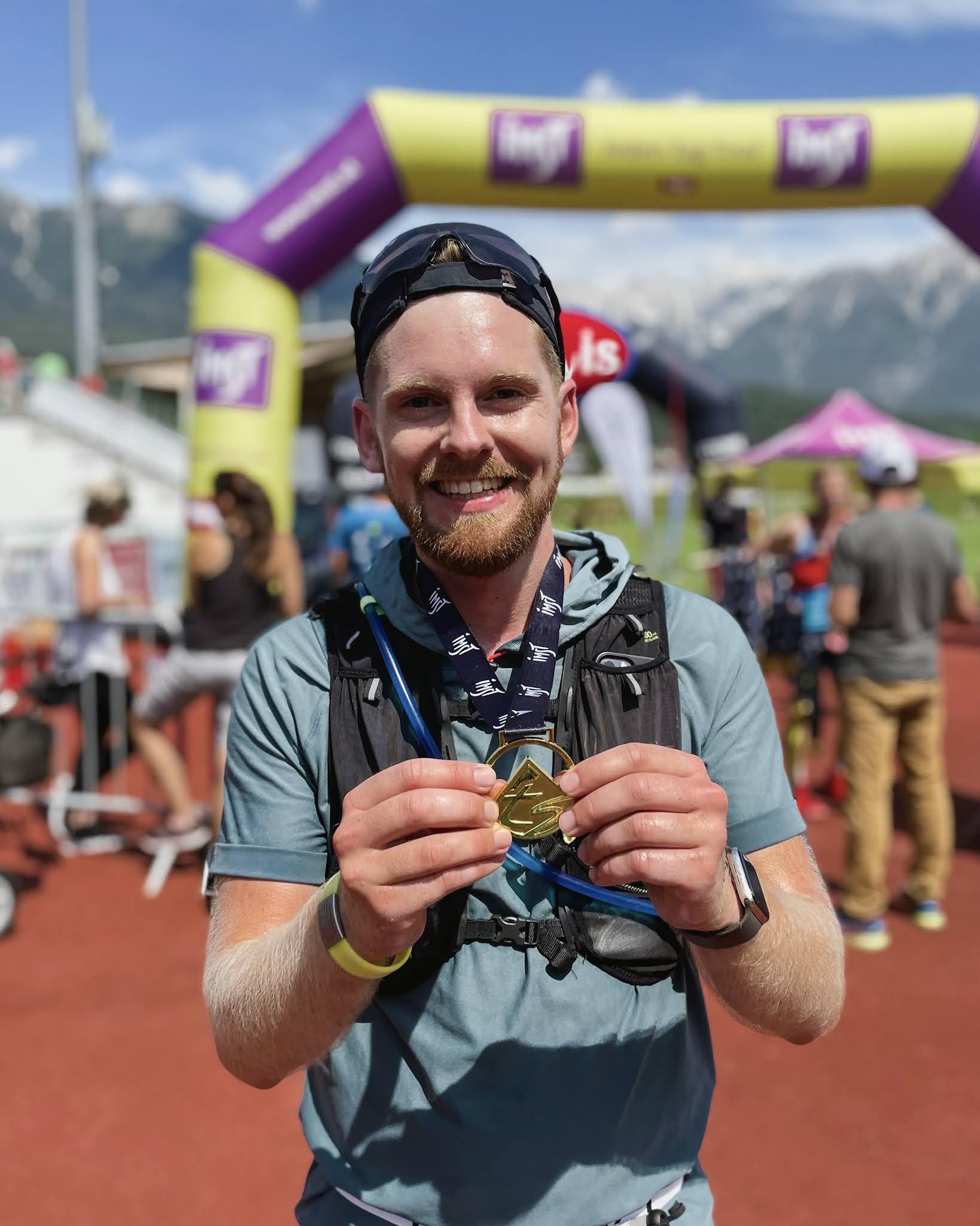 Tschirgant Sky Run Medaille Medal Imst