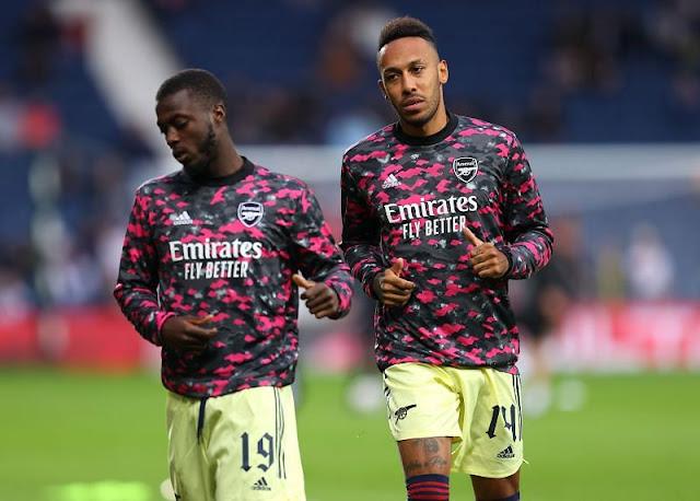 Arsenal duo Aubameyang and Nicolas Pepe