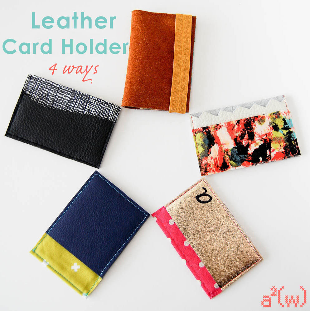 Leather card holder - 4 Tutorials