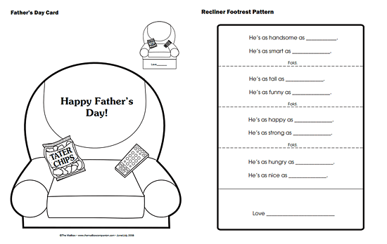 Father's Day card template from The Mailbox