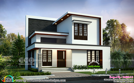 Simple modern 4 bedroom 1992 sq-ft Kerala house design