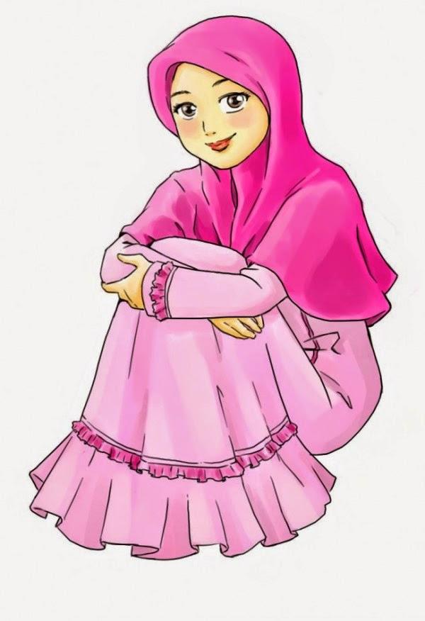 Gambar Kartun Wanita Muslimah Berjilbab Cantik Dan Anggun Michaelrokk