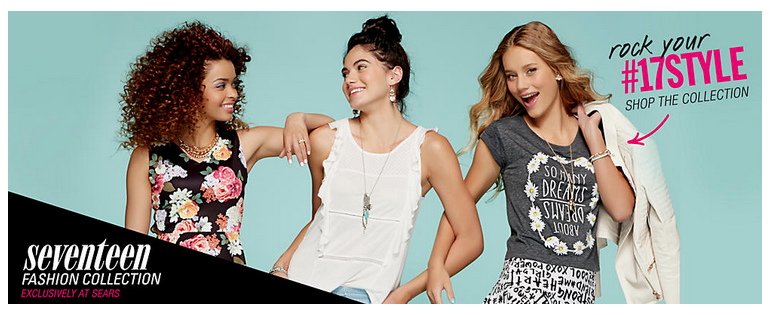 b8ea3fb375 Editors Picks from the Seventeen Fashion Collection at Sears #17Style