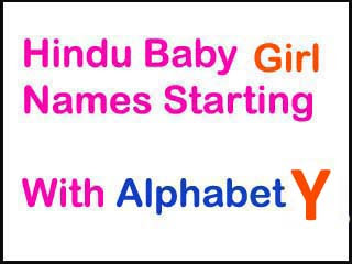 Hindu Baby Girl Names Starting With Y