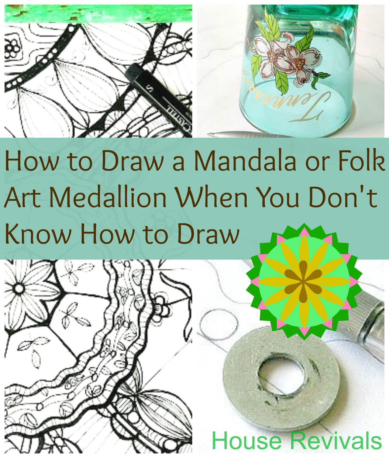 House Revivals Easy Mandala Or Folk Art Medallion Tutorial