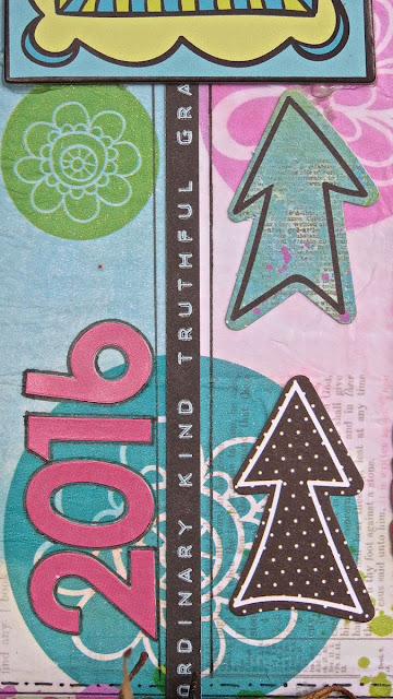 2016 Diary by Megan Gourlay for BoBunny using Believe Clear Stickers & Decoupage Paper