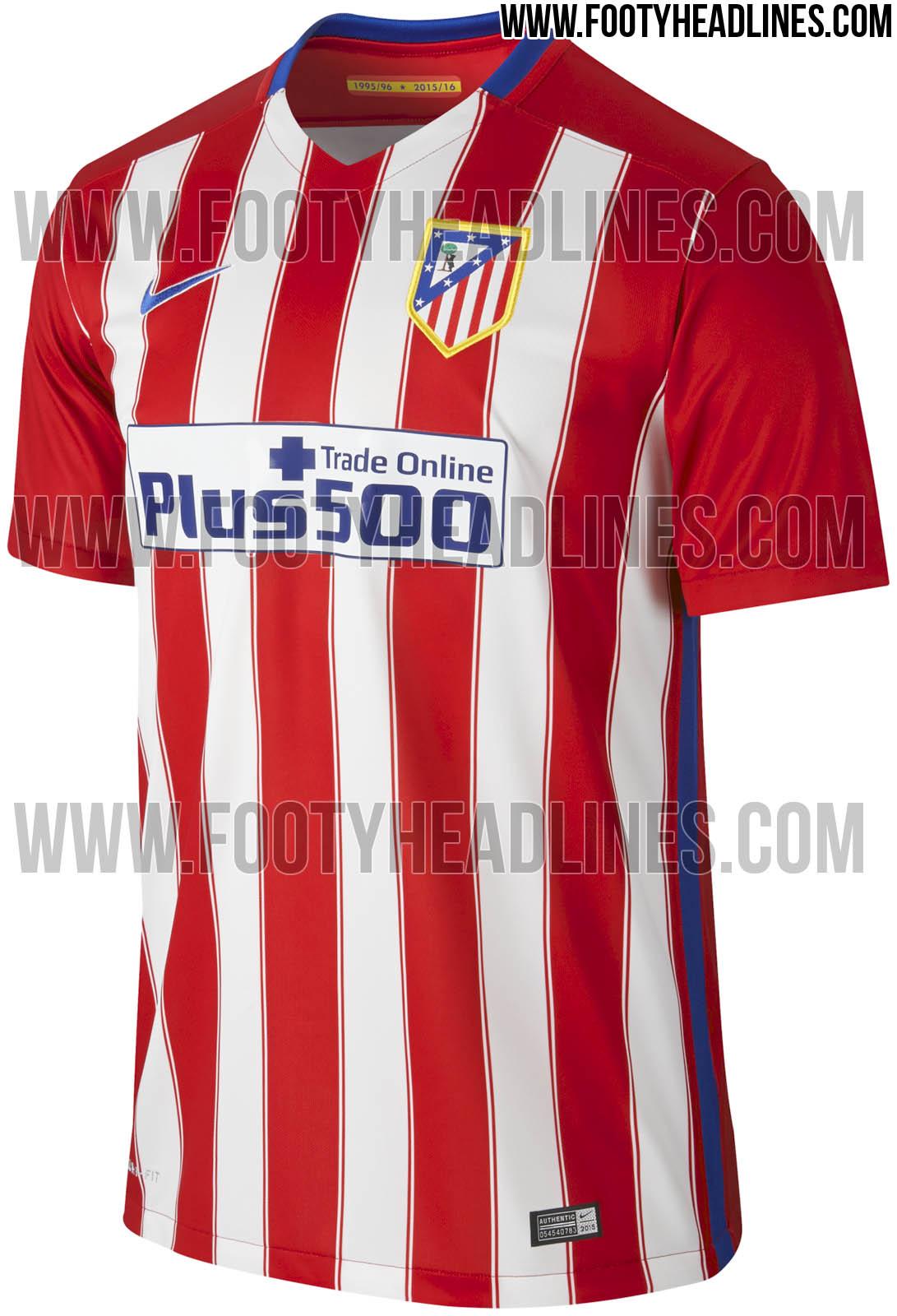 Nuevas imágenes de las camisetas del Atlético de Madrid 2015 16 - La ... fcab8bdc5e067