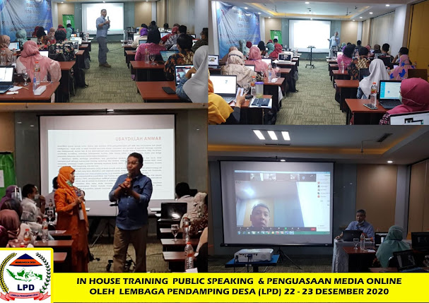 Dr. UBAYDILLAH ANWAR IN HOUSE TRAINING PUBLIC SPEAKING