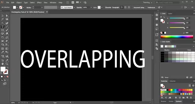 Overlapping Text in Adobe Illustrator