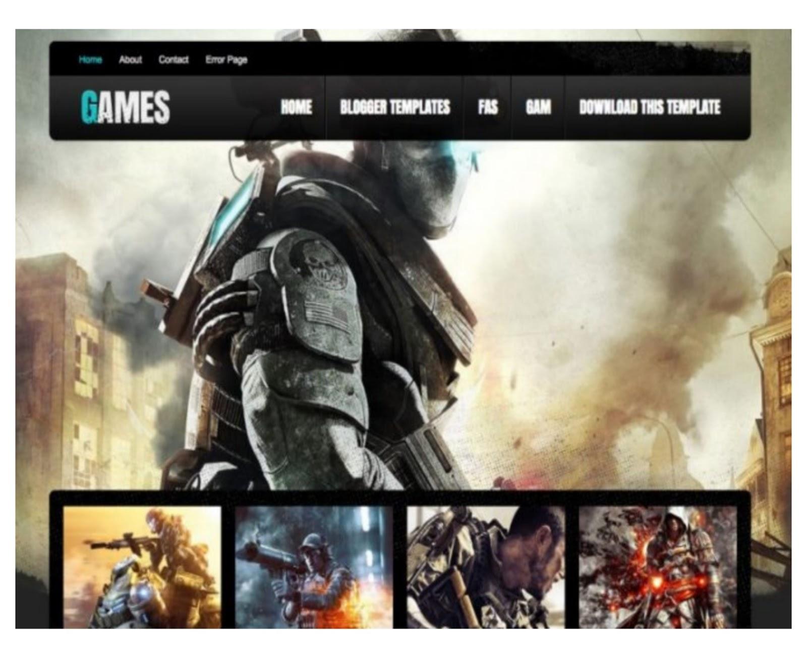 DarkMag Games Blogger Template