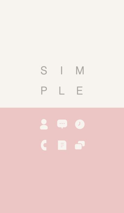 SIMPLE / pink-beige