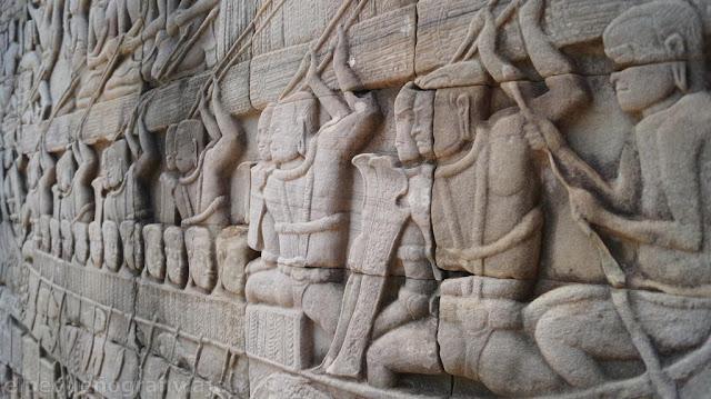 fresos, bayon, arte, templo, camboya