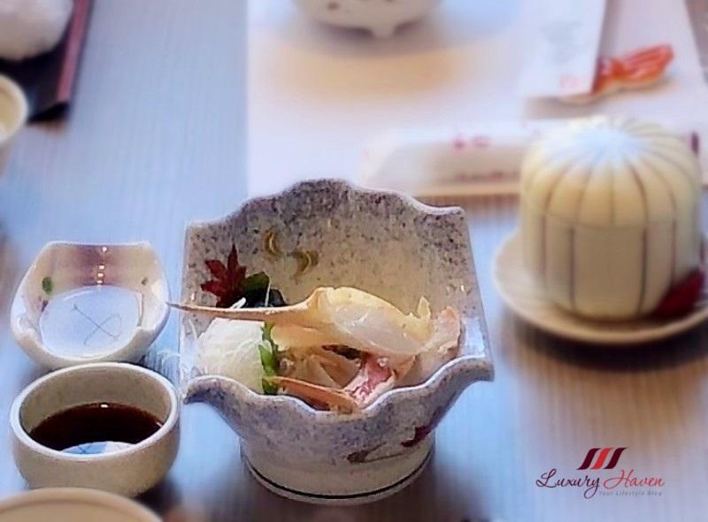kani doraku dotombori honten review snow crab sashimi