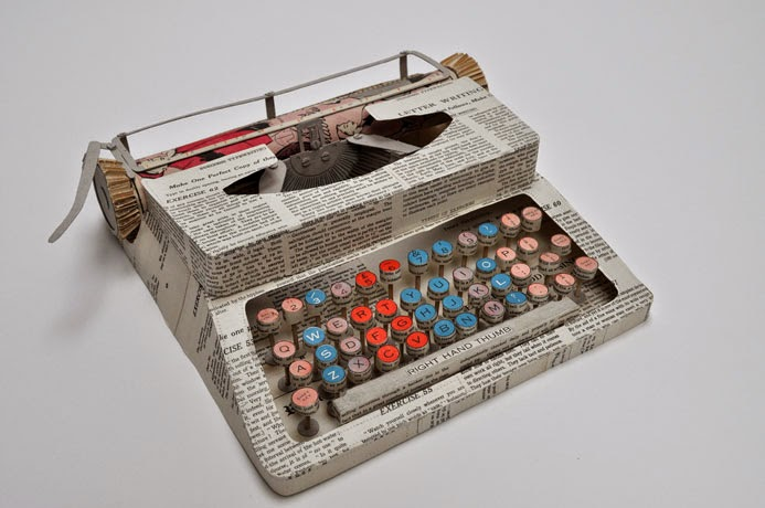 14-Typewriter-Jennifer-Collier-Stitched-Paper-Sculptures-www-designstack-co