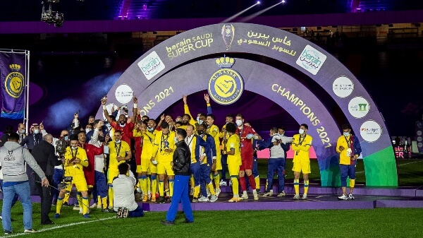 مراسم تتويج النصر بطلا لكاس السوبر السعودي