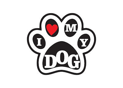 Estampa vetorizada i love my dog