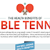 The Health Benefits Of Table Tennis #infographic