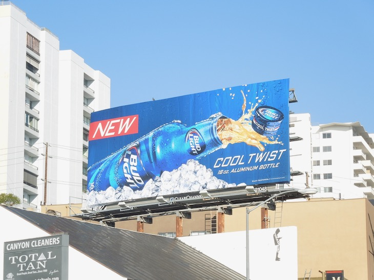 Bud Light Cool twist billboard