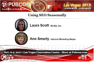 Pubcon Preview: Using SEO Seasonally with Laura Scott and Ann Smarty