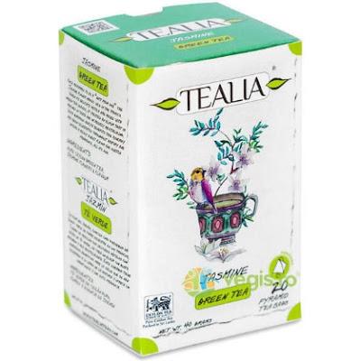 Ceai Verde Jasmine Tea 20 plicuri piramida TEALIA