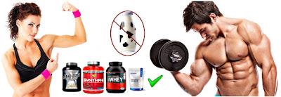 Leche proteína en polvo masa muscular