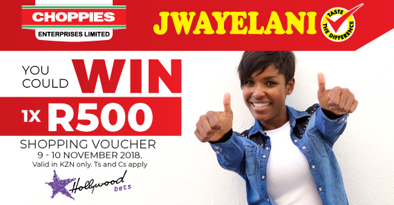 Jwayelani Promotion: Win A R500 Shopping Voucher