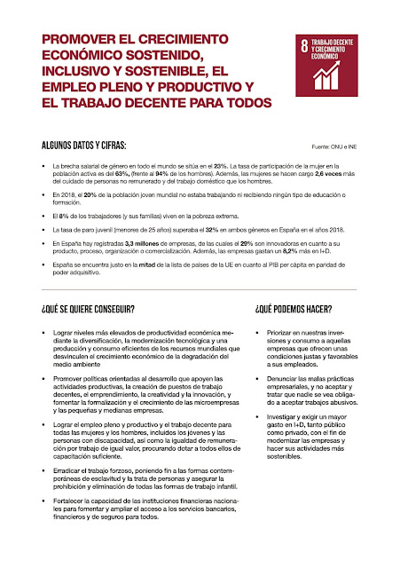 ODS 8: Trabajo Decente y Crecimiento Económico