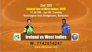 Today Match Prediction WI vs IRE ODI 2nd ODI Match 100% Sure