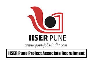IISER Pune Project Associate Recruitment 2020