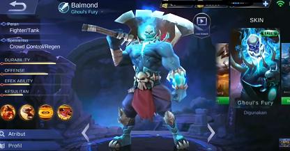 gambar Balmond (Ghoul's Fury) di mobile legend