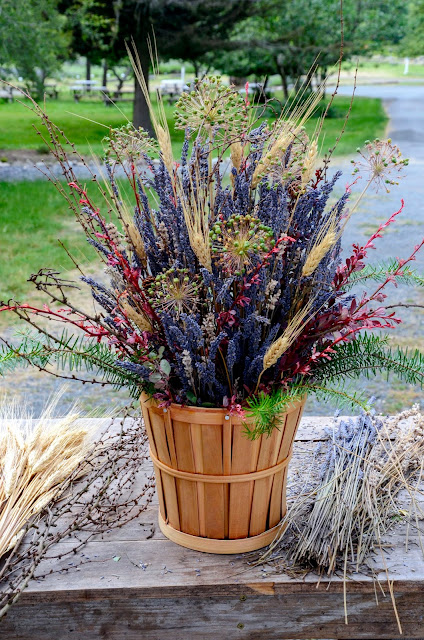 DIY Fall Lavender Flower Arrangement