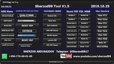 Sherzod99 Tool v1.5 Frp Tool Free Download