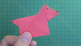 Hướng dẫn cách gấp con chó bằng giấy siêu đơn giản