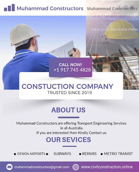 Transport Engineering Services in Dandenong, Australia, Muhammad Constructors - Call +1 (917) 745-4828