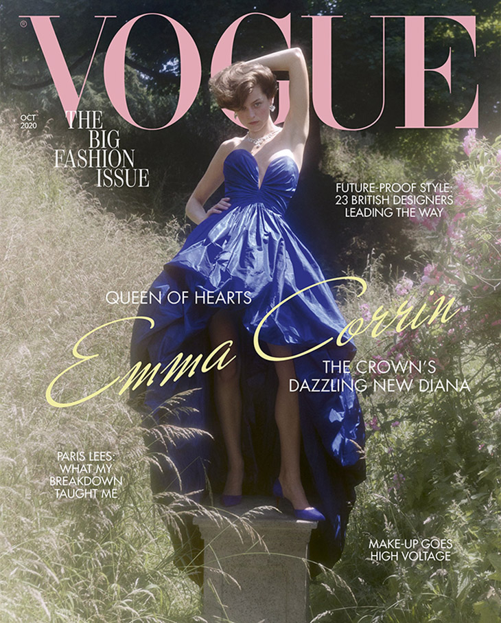 Vogue UK features The Crown's Princess Diana – Emma Corrin on the cover of their latest edition