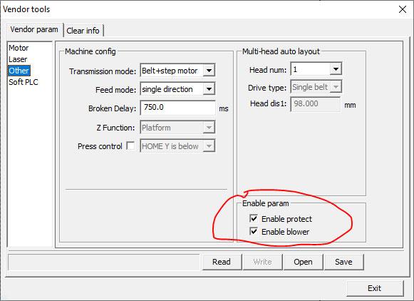 rdworks enable air blower