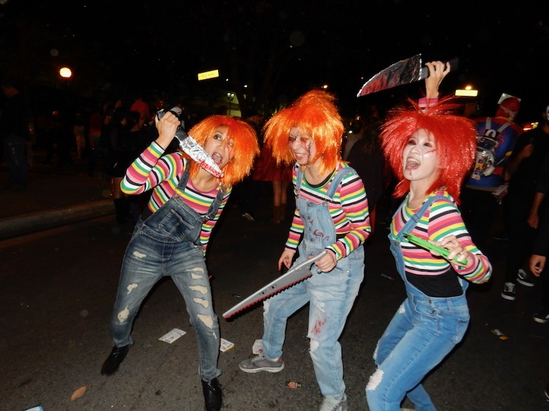 Childs Play Chucky group costume Weho Halloween