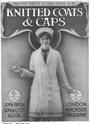 1910s vintage knitting pattern; Patons; Knitted coats & caps