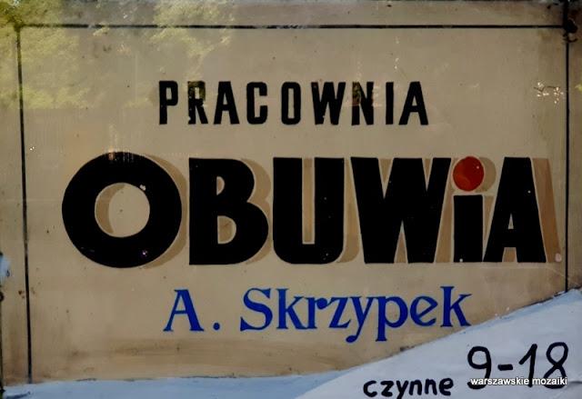 warszawskie szyldy retro retroszyld tabliczka obuwie Ochota