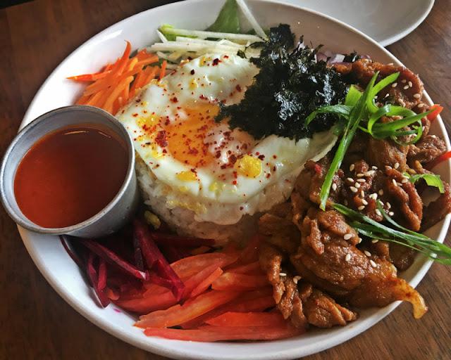 Salad Bibimbap at Senor Kimchi Vivo Place