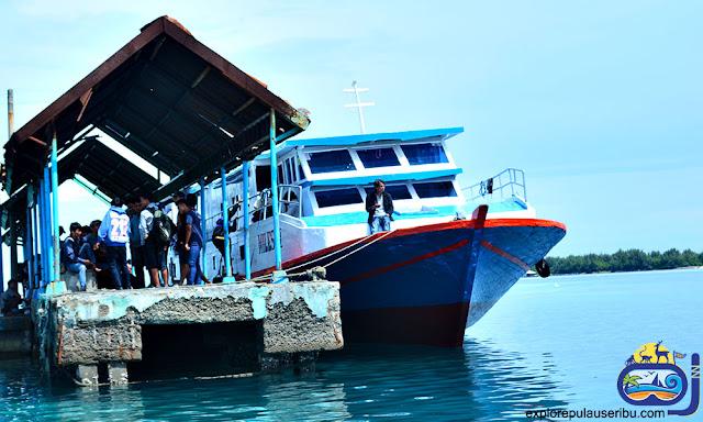dermaga kapal pulau harapan
