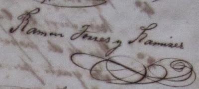 Firma Ramon Torres Ramirez de Arellano Cabo Rojo