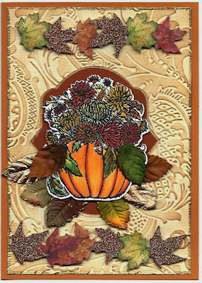 Our Daily bread Designs, Flower and Pumpkin Bundle, Fall Flowers Pumpkin, Pumpkin with flowers die