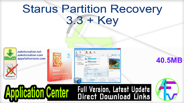 Starus Partition Recovery 3.3 + Key
