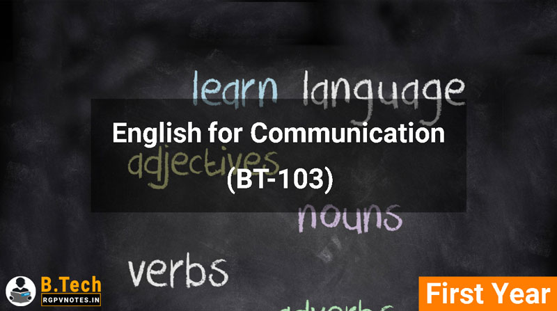 English for Communication (BT-103) RGPV notes AICTE flexible curricula