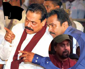 Wimal who got together with Mahinda and shouted that black flags be hoisted against Modi ... later changes because of Karuna!