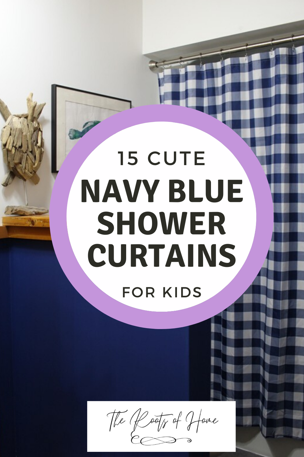 15 Cute Navy Blue Shower Curtains for Kids' Bathrooms