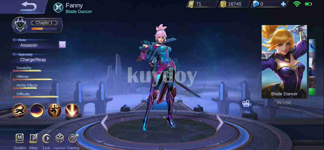 Script Skin Painted Fanny Mobile Legends Work Rank Classic