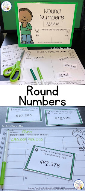 Fourth Grade Math Round Numbers. Lesson plans, resources and tips for teaching Round Numbers for Fourth Grade Teachers. #FernSmithsClassroomIdeas